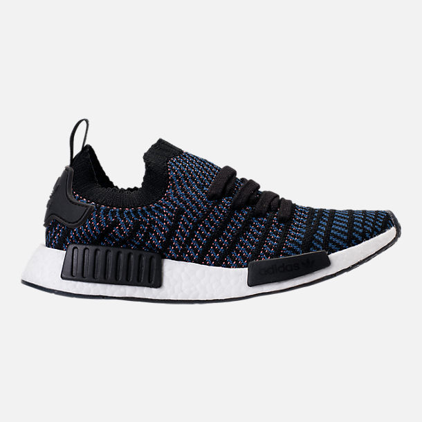 Right view of Women's adidas NMD R1 STLT Primeknit Casual Shoes in Core Black/Ash Pink/Noble Indigo