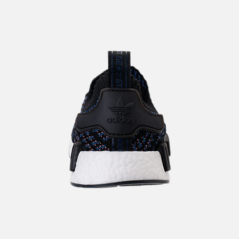 Back view of Women's adidas NMD R1 STLT Primeknit Casual Shoes in Core Black/Ash Pink/Noble Indigo