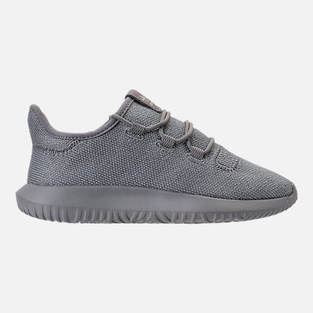Right view of Girls' Preschool adidas Tubular Shadow Casual Shoes in Grey/Silver Metallic