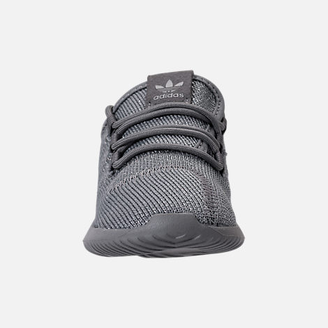 Front view of Girls' Toddler adidas Tubular Shadow Casual Shoes in Grey/Silver Metallic