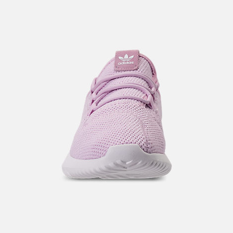 Front view of Girls' Little Kids' adidas Tubular Shadow Casual Shoes in Aero Pink/White