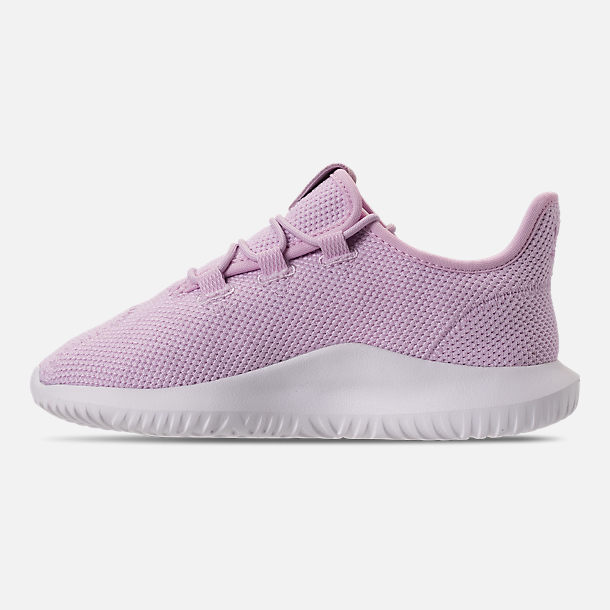 Left view of Girls' Little Kids' adidas Tubular Shadow Casual Shoes in Aero Pink/White