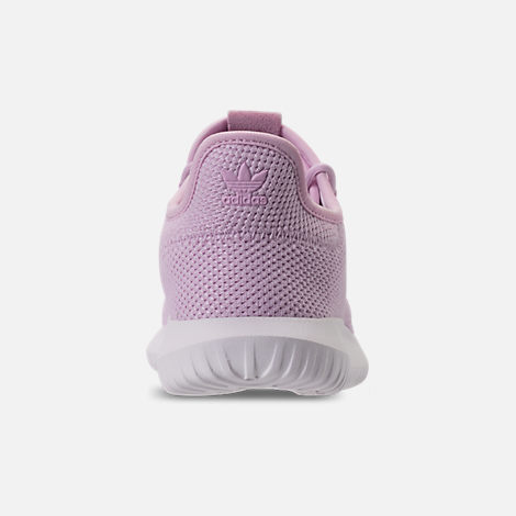 Back view of Girls' Little Kids' adidas Tubular Shadow Casual Shoes in Aero Pink/White