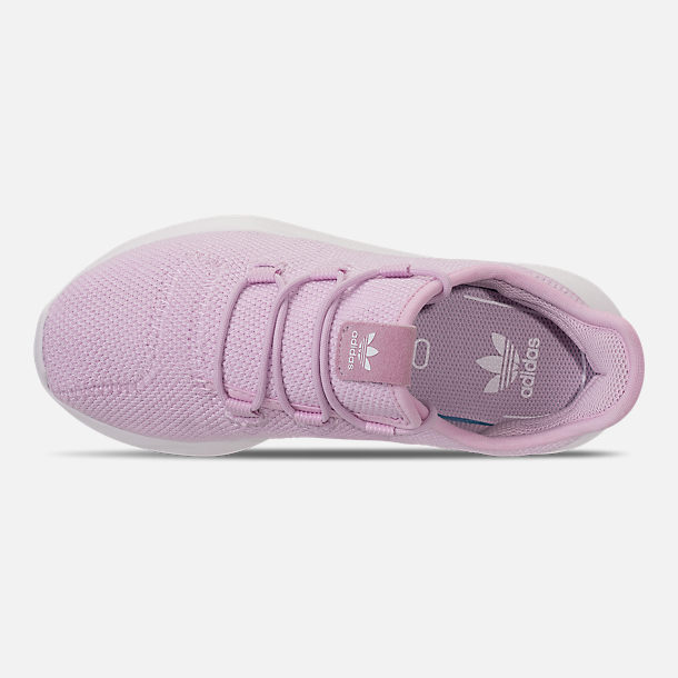 Top view of Girls' Little Kids' adidas Tubular Shadow Casual Shoes in Aero Pink/White