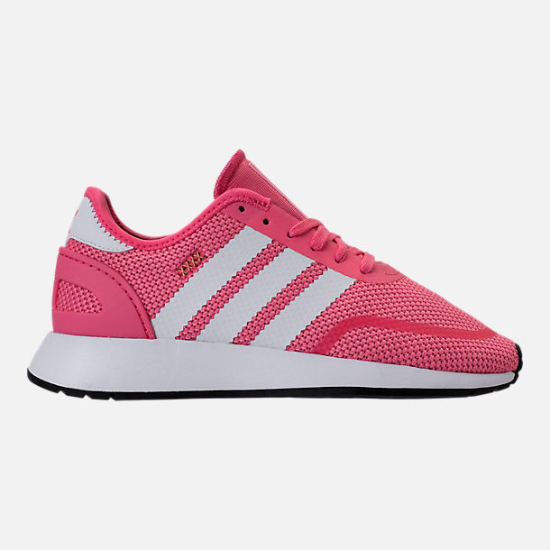 Right view of Girls' Grade School adidas N-5923 Casual Shoes in Chalk Pink/White