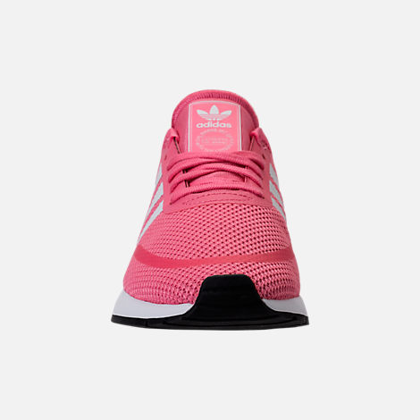 Front view of Girls' Big Kids' adidas N-5923 Casual Shoes in Chalk Pink/White