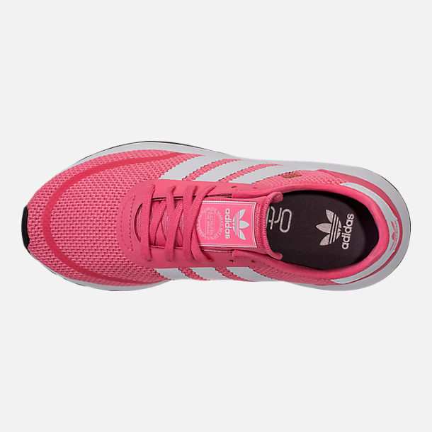 Top view of Girls' Big Kids' adidas N-5923 Casual Shoes in Chalk Pink/White