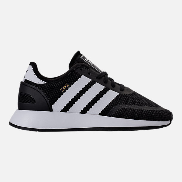Right view of Boys' Grade School adidas N-5923 Casual Shoes in Black/White