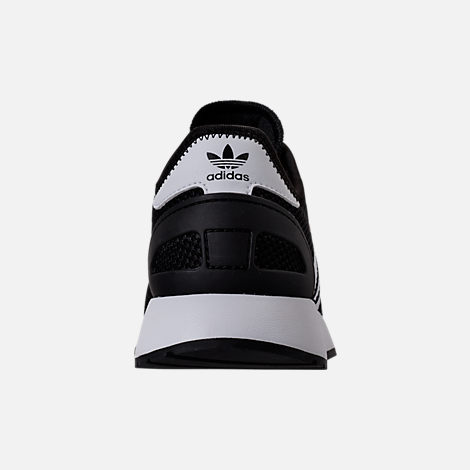 Back view of Boys' Grade School adidas N-5923 Casual Shoes in Black/White