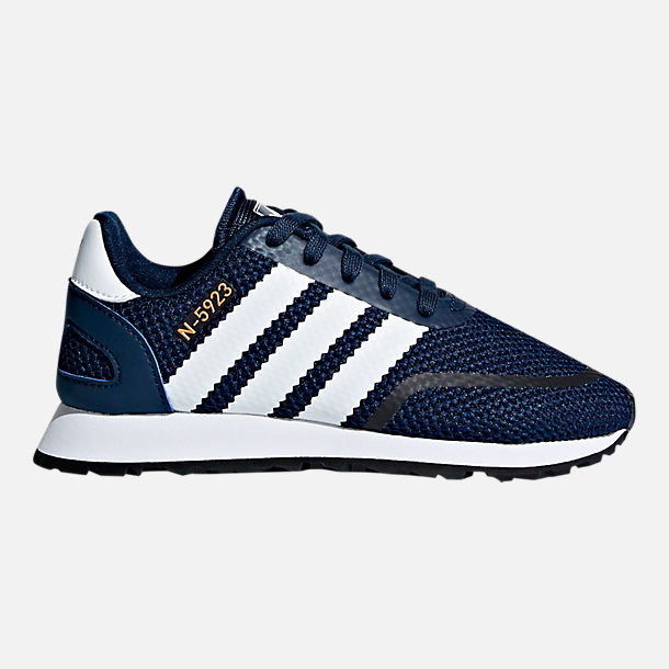 Right view of Boys' Preschool adidas N-5923 Casual Shoes in Collegiate Navy/White