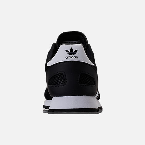 Back view of Boys' Preschool adidas N-5923 Casual Shoes in Black/White