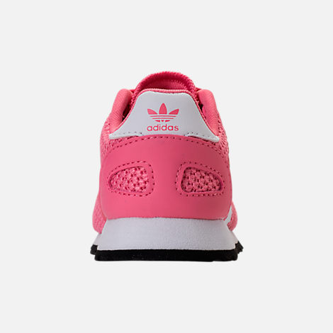 Back view of Girls' Toddler adidas N-5923 Casual Shoes in Chalk Pink/White
