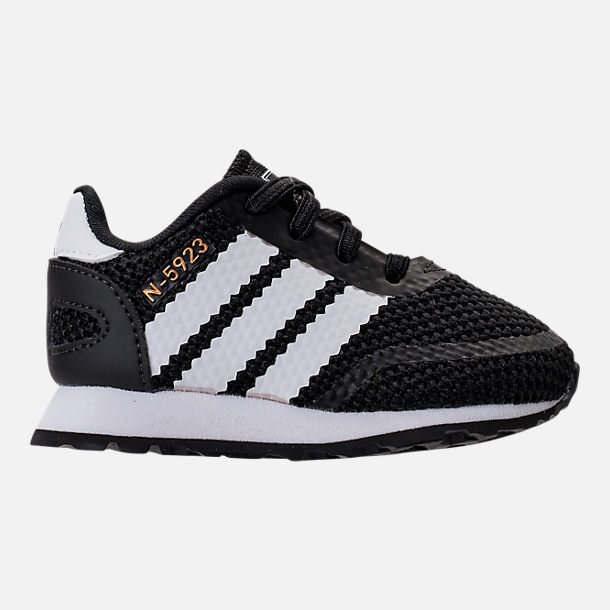 Right view of Boys' Toddler adidas N-5923 Casual Shoes in Black/White