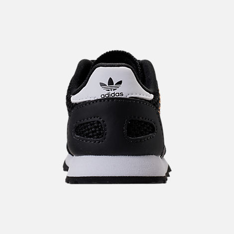 Back view of Boys' Toddler adidas N-5923 Casual Shoes in Black/White