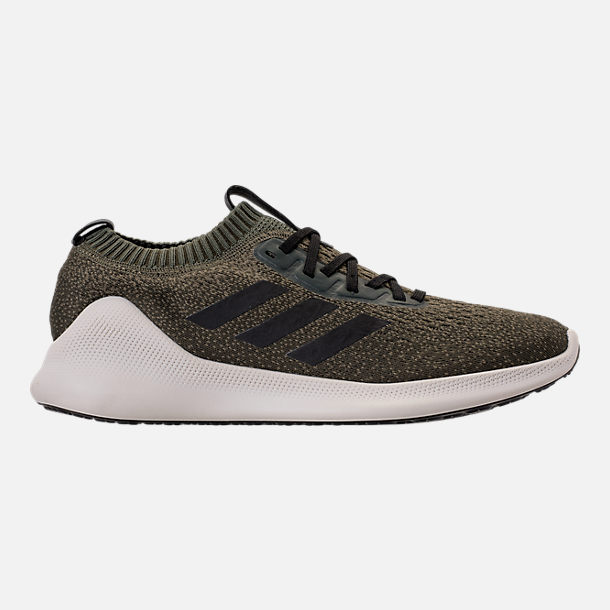 Right view of Men's adidas PureBounce+ Running Shoes in Base Green/Core Black/Night Cargo