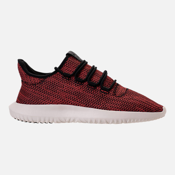 Right view of Men's adidas Originals Tubular Shadow Circular Knit Casual Shoes in Core Black/Trasca/White