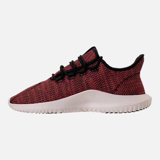 Left view of Men's adidas Originals Tubular Shadow Circular Knit Casual Shoes in Core Black/Trasca/White