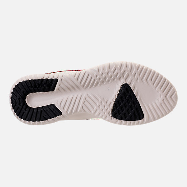Bottom view of Men's adidas Originals Tubular Shadow Circular Knit Casual Shoes in Core Black/Trasca/White