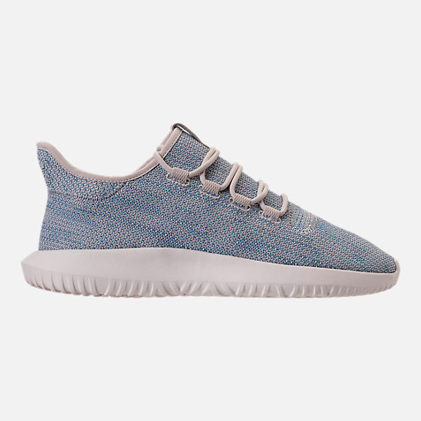 Right view of Men's adidas Originals Tubular Shadow Circular Knit Casual Shoes in Clear Brown/Light Blue/White