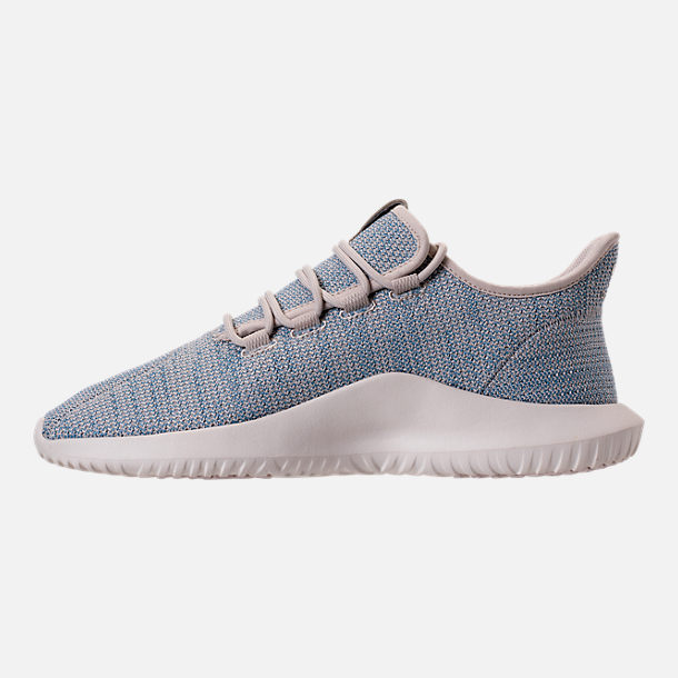 Left view of Men's adidas Originals Tubular Shadow Circular Knit Casual Shoes in Clear Brown/Light Blue/White
