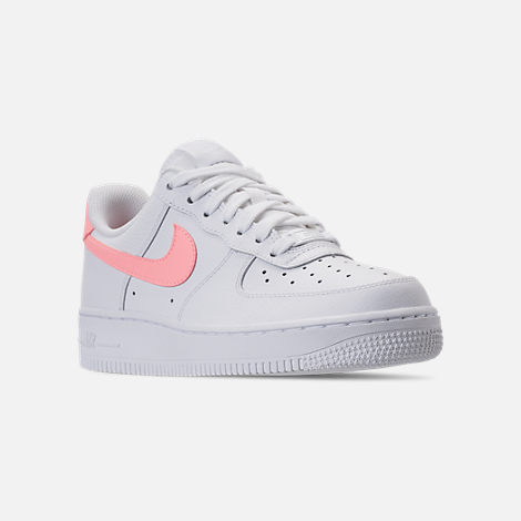 b01f62cd5ff3a Three Quarter view of Women's Nike Air Force 1 '07 Casual Shoes in White/