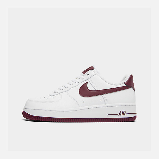 51a08e0d69b1 Right view of Women s Nike Air Force 1  07 Casual Shoes in White Bordeaux