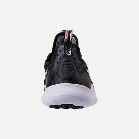 Back view of Women's Nike Free TR 8 Print Training Shoes in Black/White