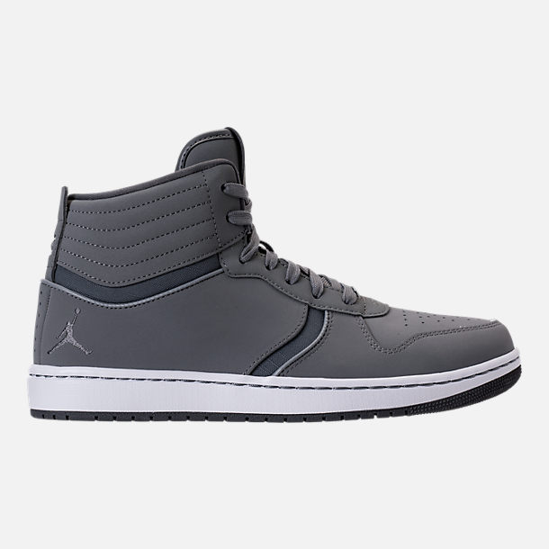 Right view of Men's Air Jordan Heritage Off-Court Shoes in Cool Grey/Dark Grey/White