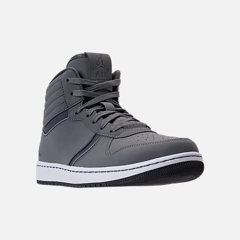 Three Quarter view of Men's Air Jordan Heritage Off-Court Shoes in Cool Grey/Dark Grey/White
