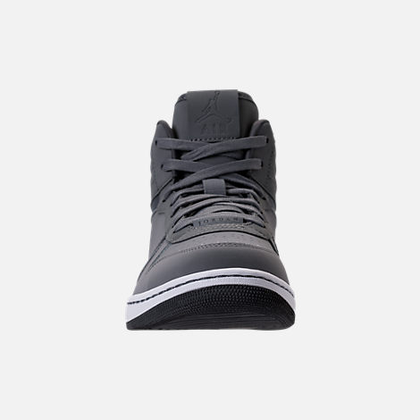 Front view of Men's Air Jordan Heritage Off-Court Shoes in Cool Grey/Dark Grey/White
