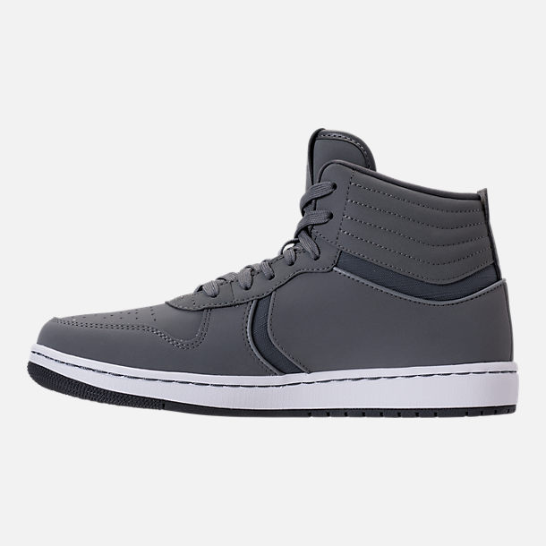 Left view of Men's Air Jordan Heritage Off-Court Shoes in Cool Grey/Dark Grey/White