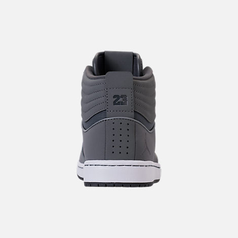 Back view of Men's Air Jordan Heritage Off-Court Shoes in Cool Grey/Dark Grey/White