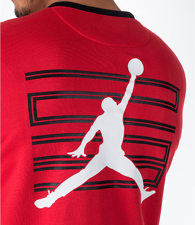 Detail 1 view of Men's Air Jordan 11 Basketball Jacket in Red
