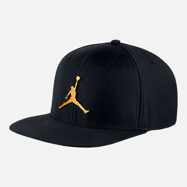 dd899c2967f5ee Front view of Unisex Air Jordan Jumpman Elephant Print Ingot Pro Snapback  Hat in Black