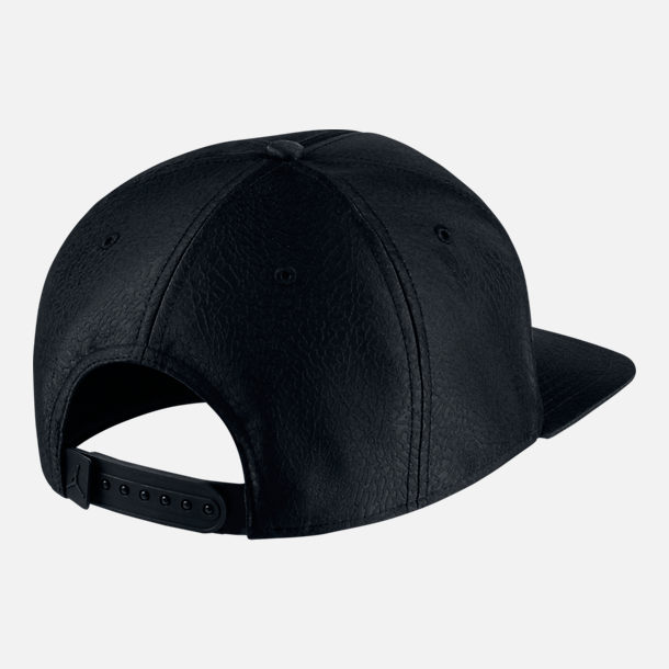 3369817fd79c Back view of Unisex Air Jordan Jumpman Elephant Print Ingot Pro Snapback Hat  in Black