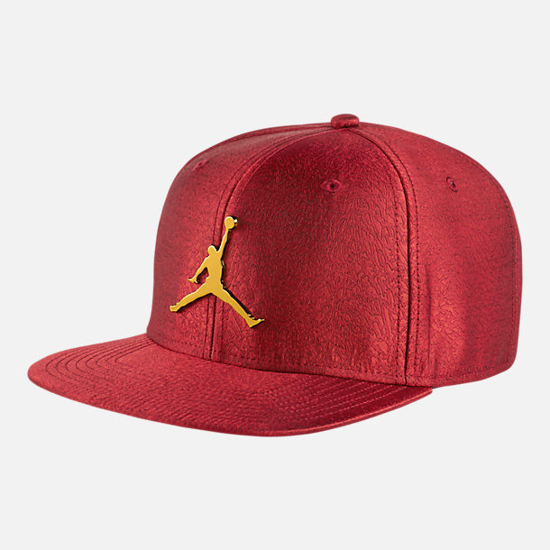 33c4619965c Front view of Unisex Air Jordan Jumpman Elephant Print Ingot Pro Snapback  Hat in Gym Red