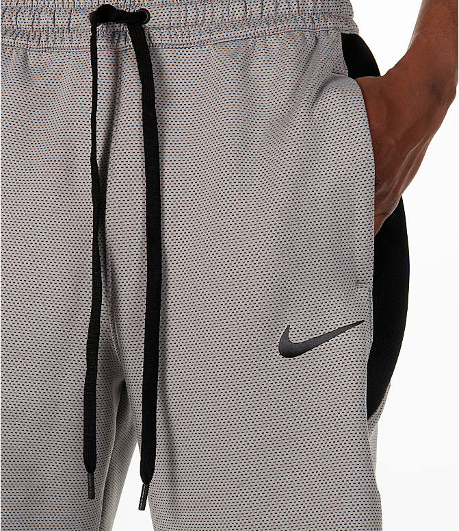 Detail 1 view of Men's Nike Therma Flex Showtime Basketball Shorts in Atmosphere Grey/Black
