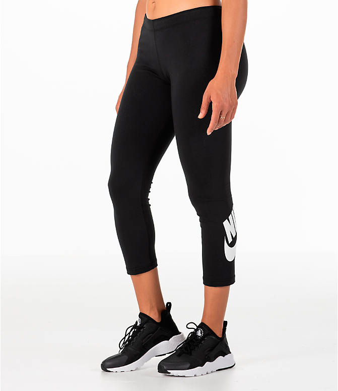 Back Left view of Women's Nike Sportswear Leg-A-See Crop Leggings