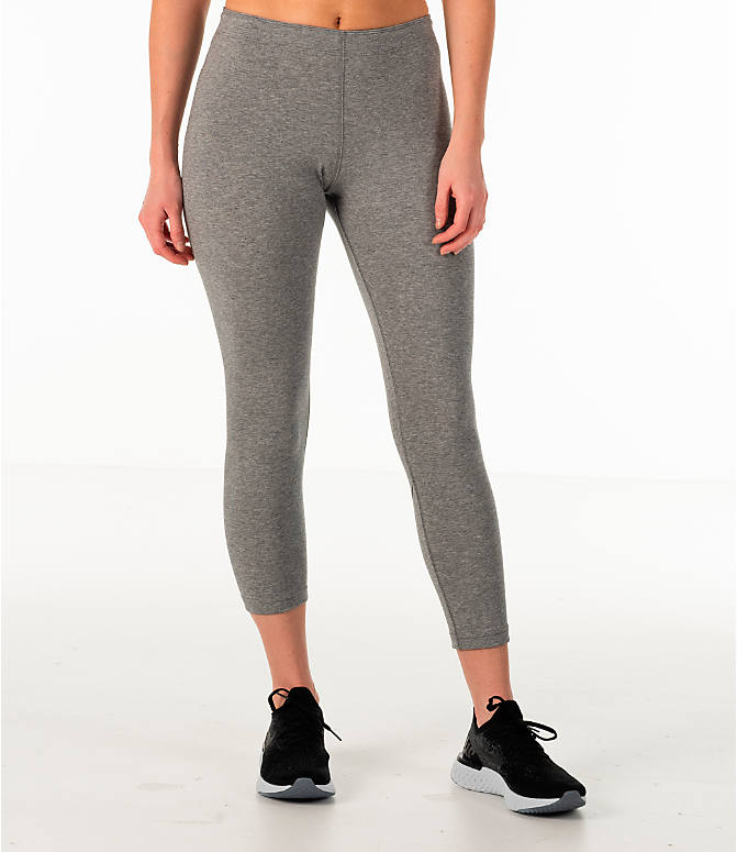 Front Three Quarter view of Women's Nike Sportswear Leg-A-See Crop Leggings
