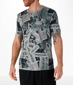 Men's Nike Dry Kyrie Newspaper T-Shirt
