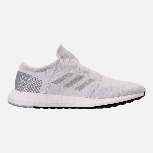 Right view of Men's adidas PureBOOST GO Running Shoes in Footwear White/Grey