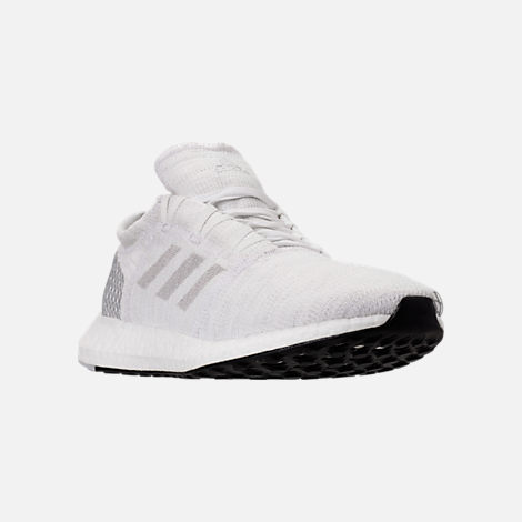 Three Quarter view of Men's adidas PureBOOST GO Running Shoes in Footwear White/Grey