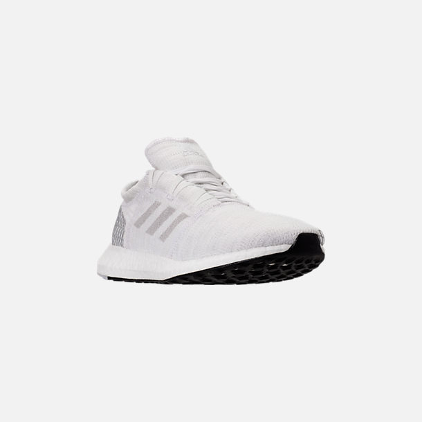 e9a6b33a8 Three Quarter view of Men s adidas PureBOOST GO Running Shoes in Footwear  White Grey