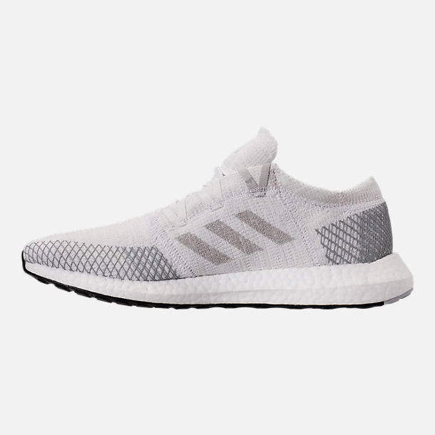 Left view of Men's adidas PureBOOST GO Running Shoes in Footwear White/Grey