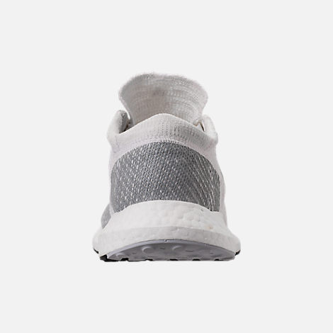 Back view of Men's adidas PureBOOST GO Running Shoes in Footwear White/Grey