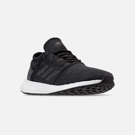 Three Quarter view of Men's adidas PureBOOST GO Running Shoes in Core Black/Grey