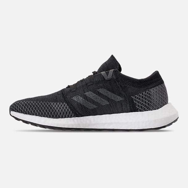 Left view of Men's adidas PureBOOST GO Running Shoes in Core Black/Grey