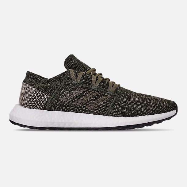 46159ec91ea6 Right view of Men s adidas PureBOOST GO Running Shoes in Base Green Trace  Cargo