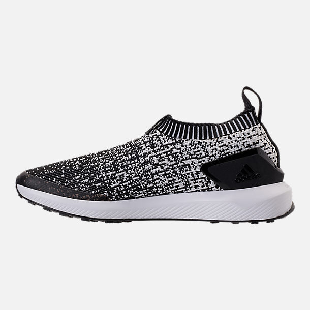 Left view of Boys' Big Kids' adidas RapidaRun Laceless Running Shoes in Core Black/Footwear White
