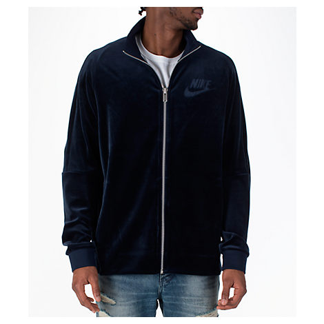 fadd80d40650 You can t beat the next level style of the Men s Nike Sportswear Velour  Track Jacket.